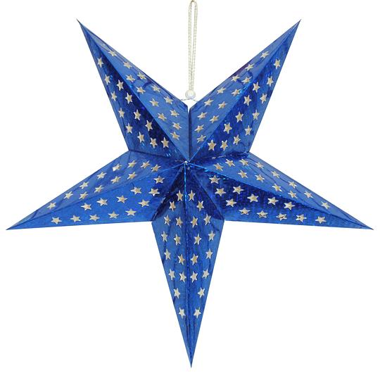 Deco Estrella 3D 28Cm Azul 1 Uni