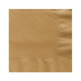 Servilleta Color Dorado 20 Uni