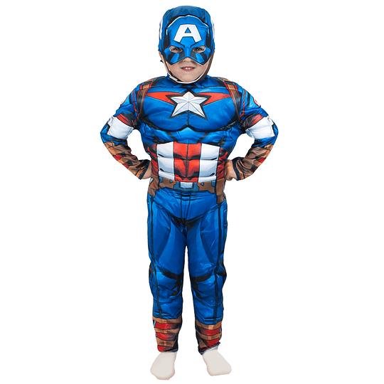Disfraz Assemble Capitan America Deluxe Talla 7/8 1Uni