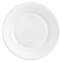 Plato Plastico Blanco 23 Cm 20 Uni