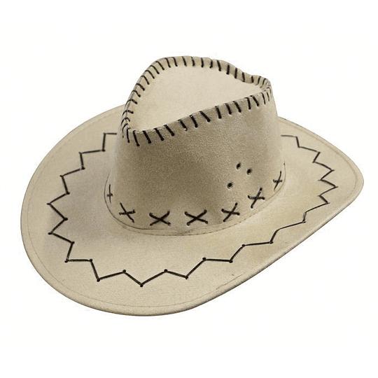 Sombrero Cowboy Beige 1 Uni