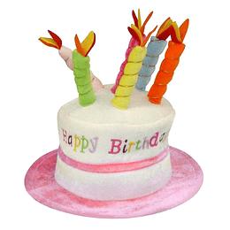 Sombrero Torta Happy Birthday Rosado 1 Uni