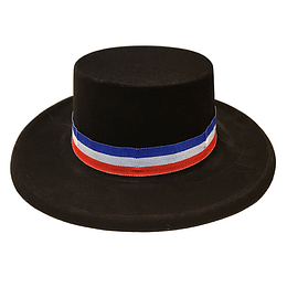 Sombrero Huaso Plástico Negro Niño 1 Uni