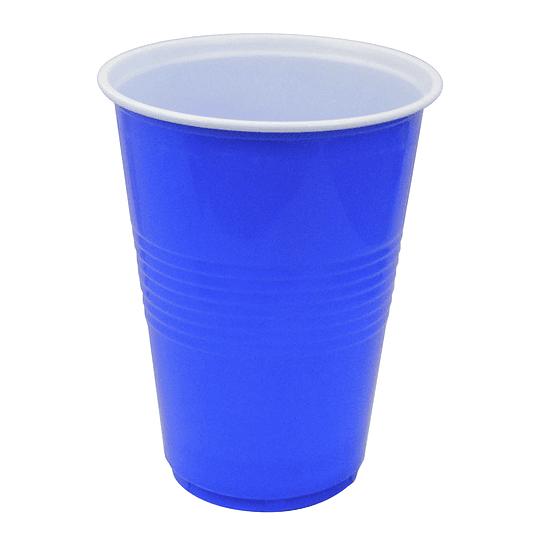 Vaso Plastico 480Ml Azul Blanco 20 Uni