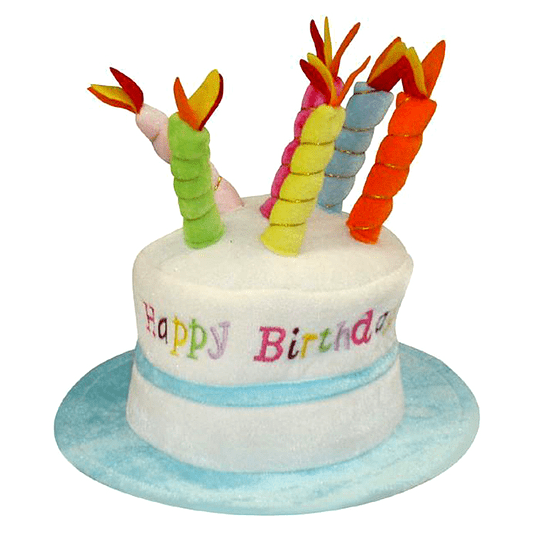 SOMBRERO TORTA HAPPY BIRTHDAY CELESTE 1 UNI