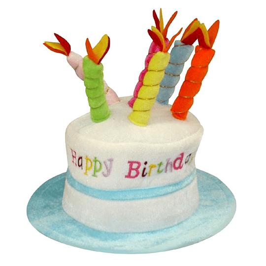 Sombrero Torta Happy Birthday Celeste 1 Uni