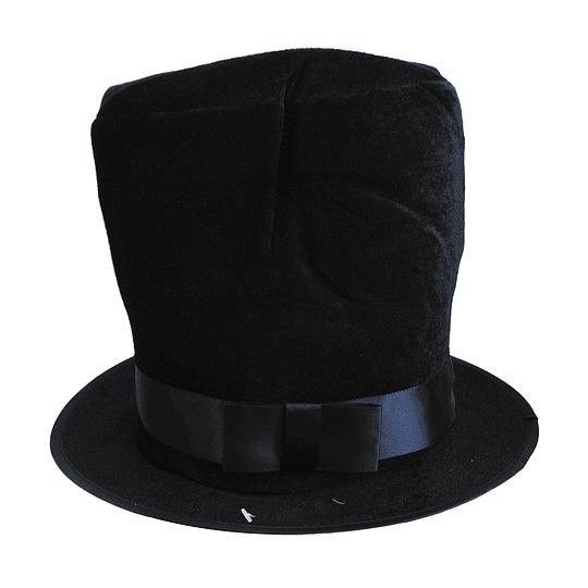 Sombrero Negro Tongo Con Cinta 1 Uni