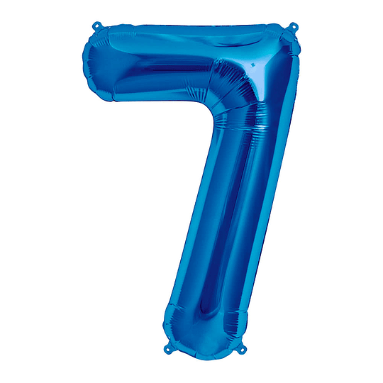 Globo 81Cm Numero 7 Azul 1 Uni