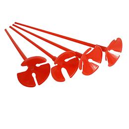 Set Varilla Y Base Portaglobos Rojo 10 Uni