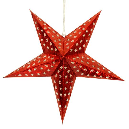 Deco Estrella 3D 28Cm Rojo 1 Uni