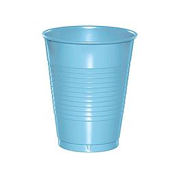 Vaso Plastico Celeste 300 Cc 50 Uni