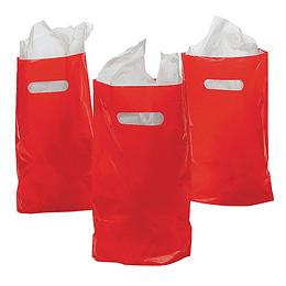 Bolsas Para Dulces Color Rojo 10 Uni