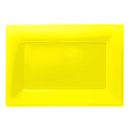 Bandeja Rectangular Amarillo 3 Uni