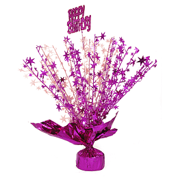Centro De Mesa Spray Happy Birthday Fucsia 1 Uni