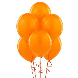 Globo Liso Glam #9 Naranja 25 Uni