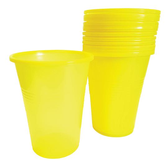 Vaso Plastico Amarillo 300 Cc 50 Uni