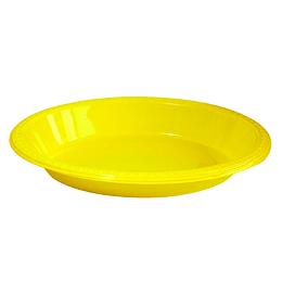 Bowl Ovalado Amarillo 5 Uni