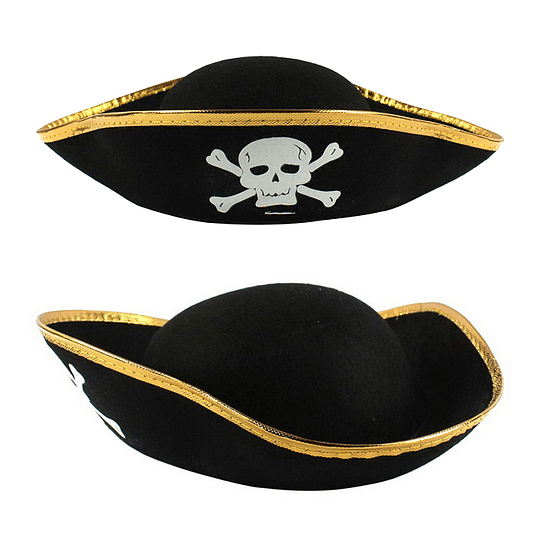 Sombrero Pirata 3 Puntas Calavera 1 Uni
