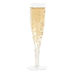 Copa Champagne Plastica Transparente 6 Uni