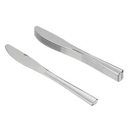 Cuchillo Plastico Metalizado 12 Uni