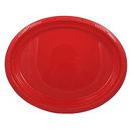 Bandeja Ovalada Roja 5 Uni