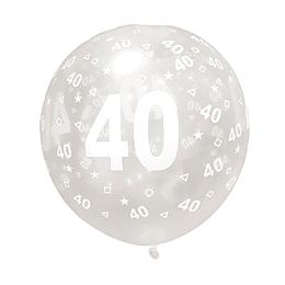 Globo Celebración 40 Años 6 Uni