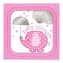 Servilleta Baby Girl Elefante 20 Uni