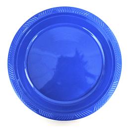 Plato Plastico 23 Cm Azul 10 Uni