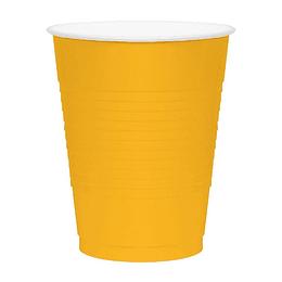 Vaso Plastico 480Ml Amarillo Blanco 20 Uni