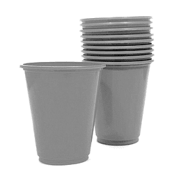 Vaso Plastico 230Cc Plateado 10 Uni