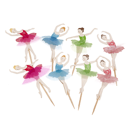 Picks Decoracion Bailarinas Tutu 12 Uni
