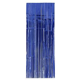 Cortina Metalizada Azul 240X100Cm 1 Uni