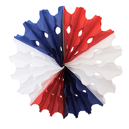 Deco Abanico Tricolor 30Cm 1 Uni