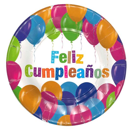 Plato Feliz Cumpleaños 6 Uni