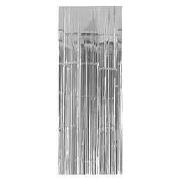 Cortina Metalizada Plateada 240X100Cm 1 Uni
