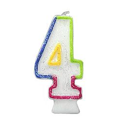 Vela Numero Brillante #4 1 Uni