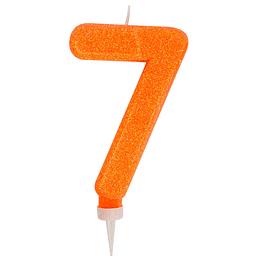 Vela Gigante Glitter Col Surt #7 1 Uni