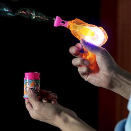 Lanza Burbujas Friccion Con Luz 1 Uni