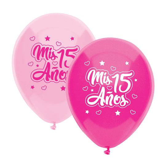 Globo #12 Metalizado Mis 15 Años 12 Uni