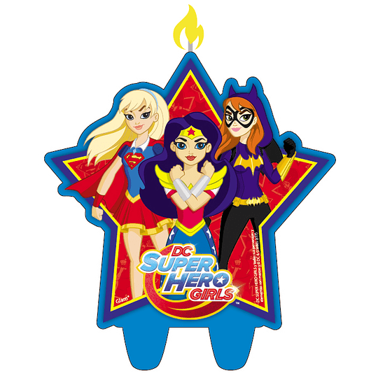 Vela Figura Dc Super Hero Girls 1 Uni