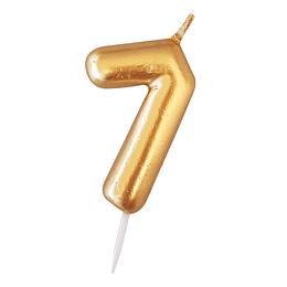 Vela Numero Dorada #7 1 Uni