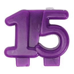 Vela Fucsia Metalizada 15 Años 1 Uni