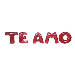 Globo Letras 40Cm Rojas Te Amo 1 Uni
