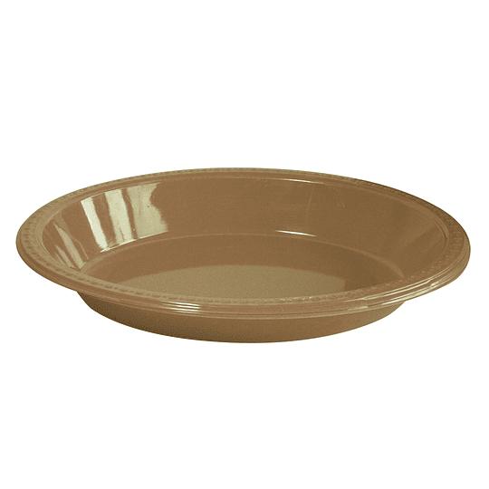 Bowl Ovalado Dorado 5 Uni