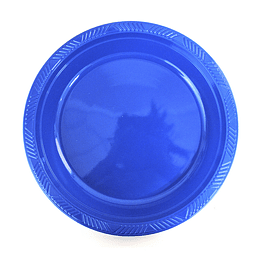 Plato Plastico 18 Cm Azul 10 Uni