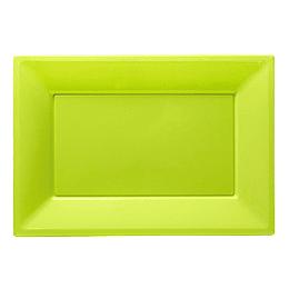 Bandeja Rectangular Verde Lima 3 Uni