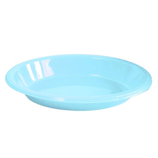 Bowl Ovalado Celeste 5 Uni