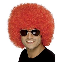 Peluca Afro Gigante Rojo 1 Uni