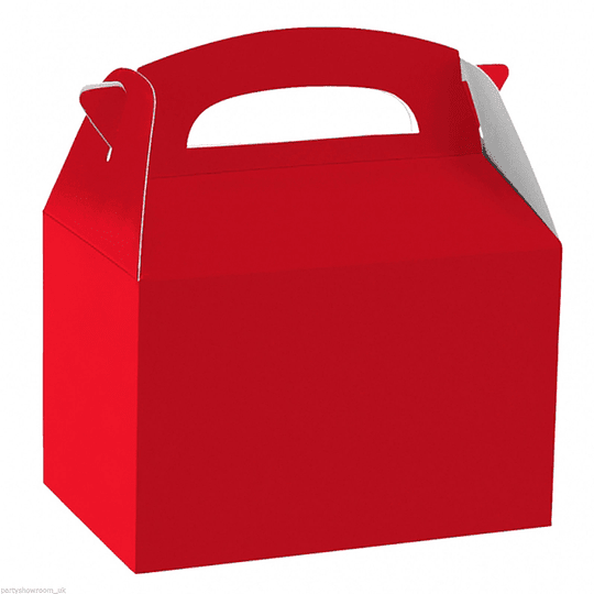 Cajita Tipo Maletin Rojo 6 Uni