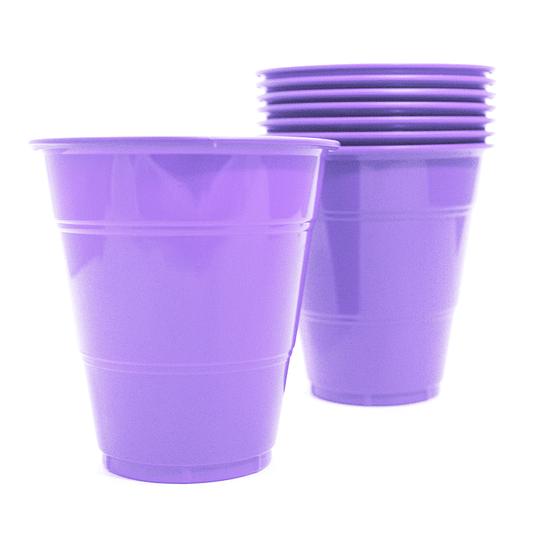 Vaso Plastico 350Cc Lila 10 Uni